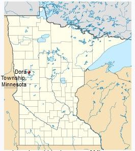Map of Dora Township, MN